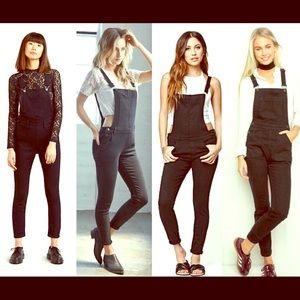 Denim - Sexy black overalls skinny ankle small/med